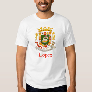 Lopez Shield of Puerto Rico T Shirt
