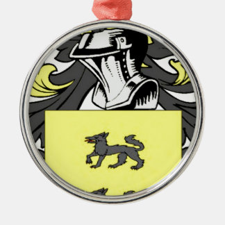 Lopez (Spanish) Coat of Arms Metal Ornament