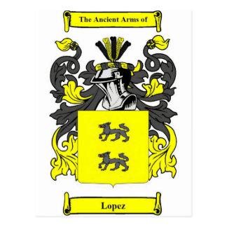 Lopez (Spanish) Coat of Arms Postcard