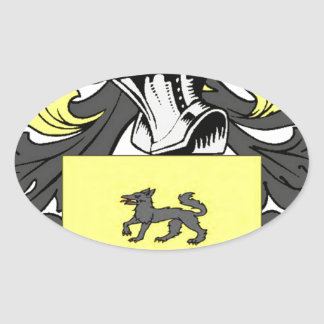 Lopez (Spanish) Coat of Arms Oval Sticker