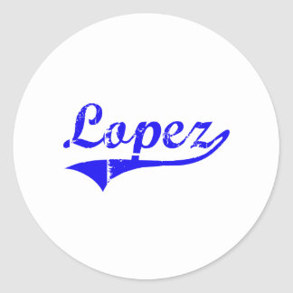 Lopez Surname Classic Style Classic Round Sticker
