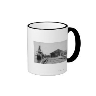 Lopez, WA - View of the SS Islander at City Dock Ringer Mug