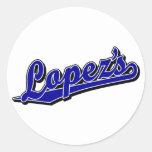 Lopez's in Blue Round Sticker