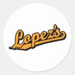 Lopez's in Orange Sticker