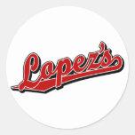 Lopez's in Red Round Sticker