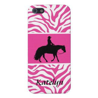 Loping Black Western Pleasure Horse Silhouette iPhone 5/5S Cases