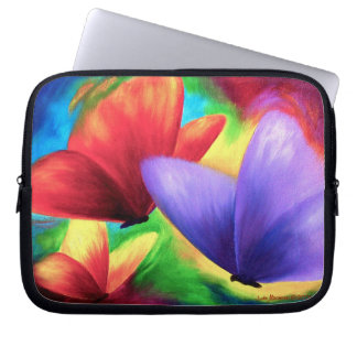 Loptop Sleeve Colorful Butterfly Painting Art Laptop Computer Sleeve