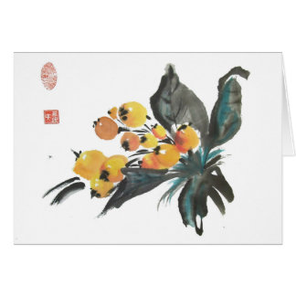 Loquat Fruit Greeting Card