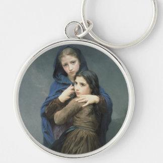 L'Orage (la tormenta) William-Adolphe Bouguereau Llavero Redondo Plateado