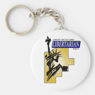 Lorain County Libertarian Party Logo Keychain