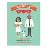 Lorain & Jason Cartoon Couple Save the Date