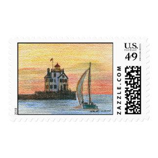 Lorain Lighthouse Stamp