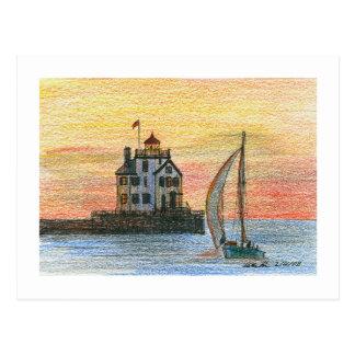Lorain Lighthouse Postcard