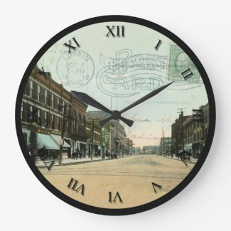 Lorain Ohio Post Card Clock - 1912