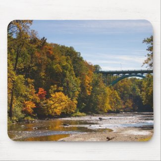 Lorain Road Bridge in Fall mousepad