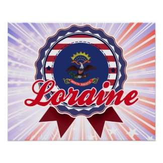 Loraine, ND Poster