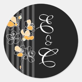 Loralye Stylized Floral Monogram Envelope Sticker