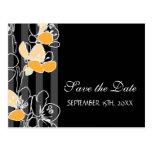 Loralye Stylized Floral SAVE THE DATE Postcard