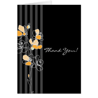 Loralye Stylized Floral Wedding Thank You Card