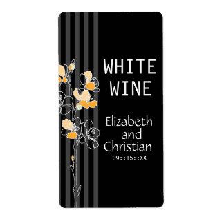 Loralye Stylized Floral Wedding Wine Labels