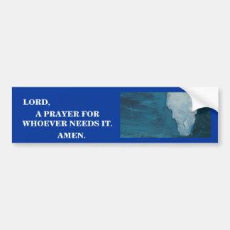LORD, A PRAYER BUMPER STICKER