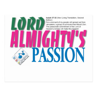 LORD ALMIGHTYs passion Postcard