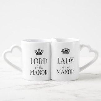Lord and Lady of the Manor mug set Lovers Mug