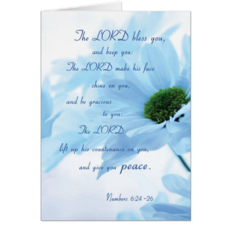 Lord Bless and Keep You, Religious Thinking of You Greeting Card