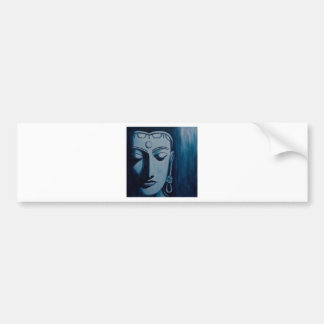 Lord Buddha Blue Bumper Sticker