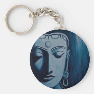 Lord Buddha Blue Key Chain