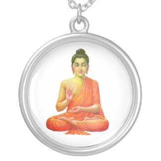 Lord Buddha Silver Plated Necklace