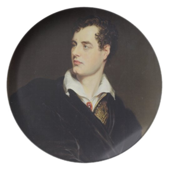Lord Byron after a Portrait painted by Thomas Phil Dinner Plate