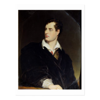 Lord Byron after a Portrait painted by Thomas Phil Postcard