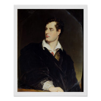 Lord Byron after a Portrait painted by Thomas Phil Poster