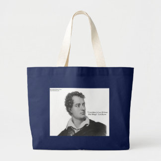 "Lord Byron ""Love W/O Wings"" Quote Gifts & Tees Large Tote Bag"