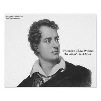 Lord Byron Love W O Wings Quote Poster Poster