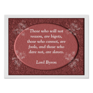 Lord Byron - quote - poster