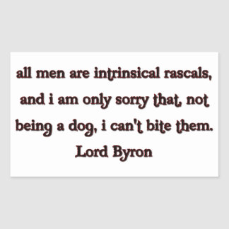 Lord Byron Quote Rectangular Sticker