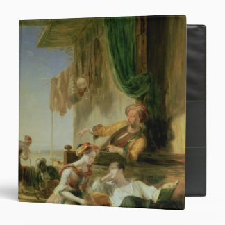 Lord Byron reposing in the house 3 Ring Binder