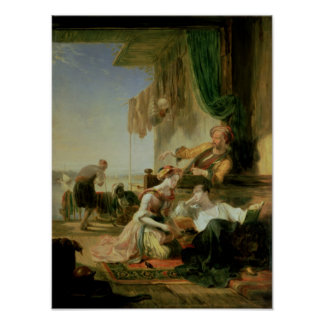 Lord Byron reposing in the house Poster
