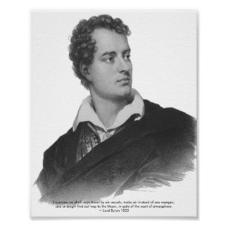 Lord Byron, Space Quote, Poster