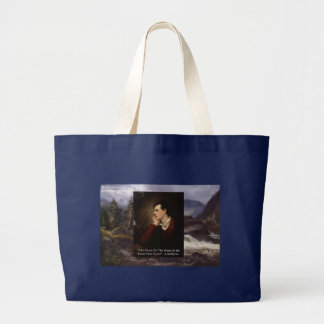 "Lord Byron ""Sweet Voice"" Love Quote Gifts Tees Etc Large Tote Bag"
