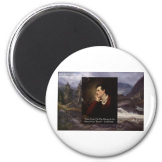 """Lord Byron """"Sweet Voice"""" Quote Gifts Tees Mugs Etc Magnet"""