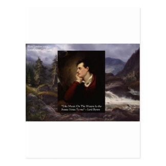 """Lord Byron """"Sweet Voice"""" Quote Gifts Tees Mugs Etc Postcard"""