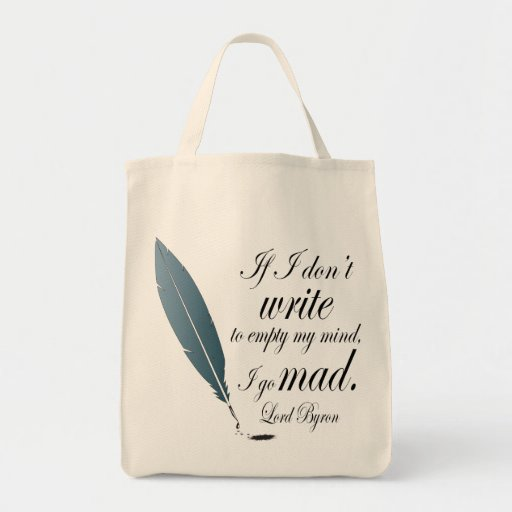 Lord Byron Writing Quote Book Bag Reading Gift