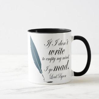 Lord Byron Writing Quote Mug Reading Gift