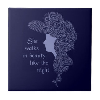 Lord Byron's Lady Ceramic Tile