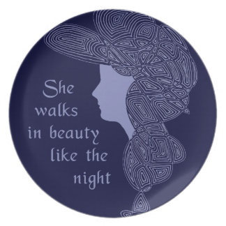 Lord Byron's Lady Dinner Plate