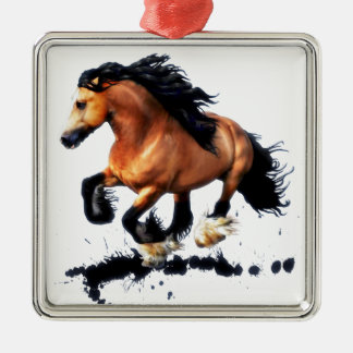 Lord Creedence Gypsy Vanner Horse Metal Ornament