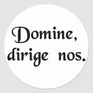 Lord, direct us. classic round sticker